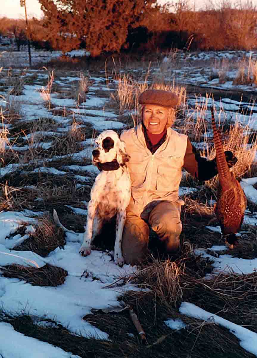 "By staying away from the ""big numbers"" hot spots, the Johnsons were able to get solid pointing dog work on fringe area pheasants. (Photo/Gary Johnson)"
