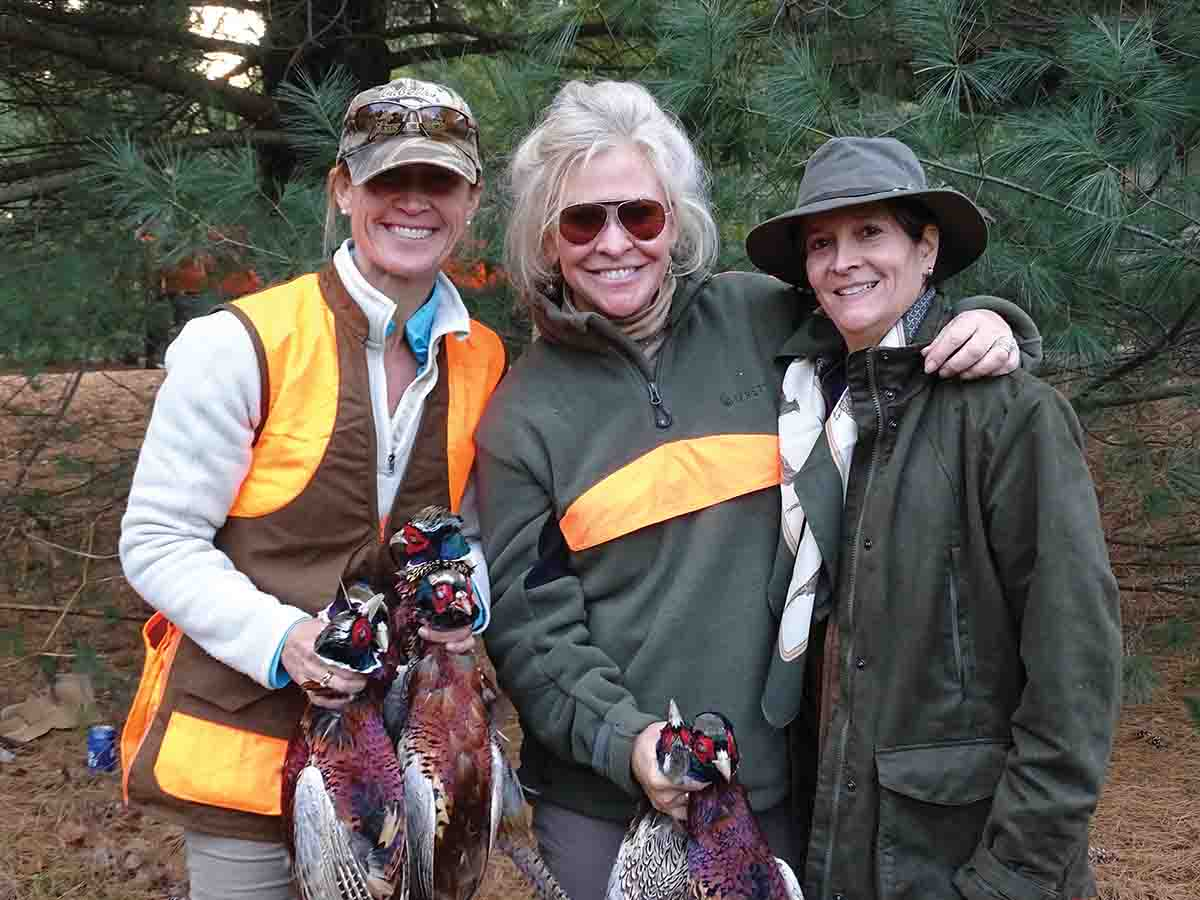 """If it flies, it dies,"" says shooting instructor/hunter Elizabeth Fennell (center). ""That about sums up my thinking, and those who know me have heard me say it hundreds of times."" (Photo/courtesy of Elizabeth Fennell)"